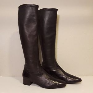 Cole Haan Womens 7 Knee High Boots Brown Leather